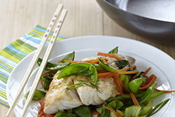 Miso Snapper with Asian Vegetables