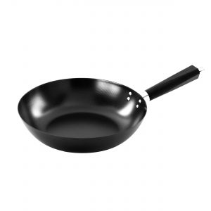 "IMUSA 12"" Non Stick Wok with  Bakelite Triangle Handle, Black"