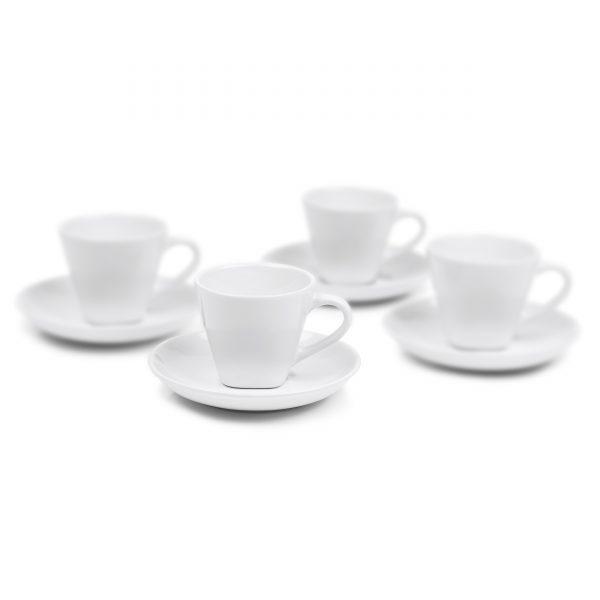 IMUSA 8 Piece Espresso Set with Rack White