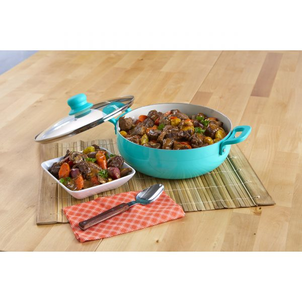 IMUSA Teal Caldero with Glass Lid 2 Quarts, Teal