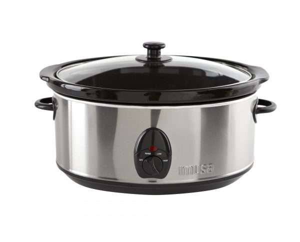 IMUSA Electric Stainless Steel Nonstick Slow Cooker 3.7 Quarts 200 Watts