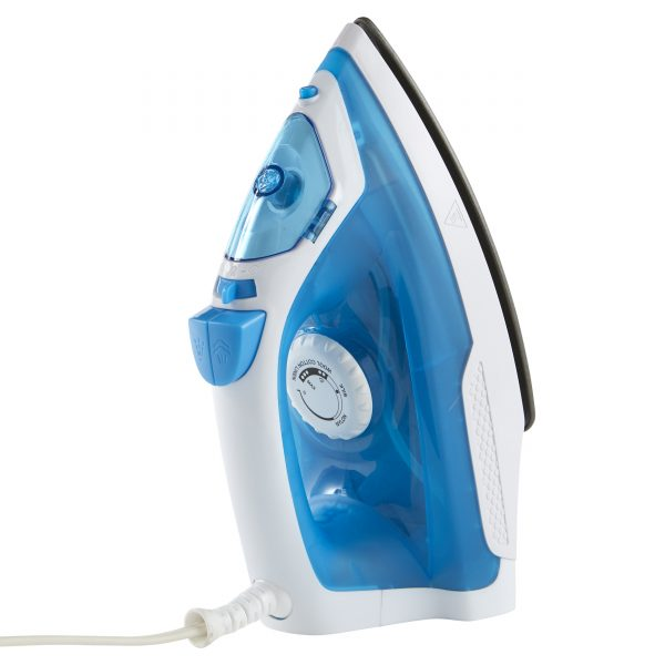 IMUSA Steam Iron with Nonstick Soleplate, Baby Blue/White