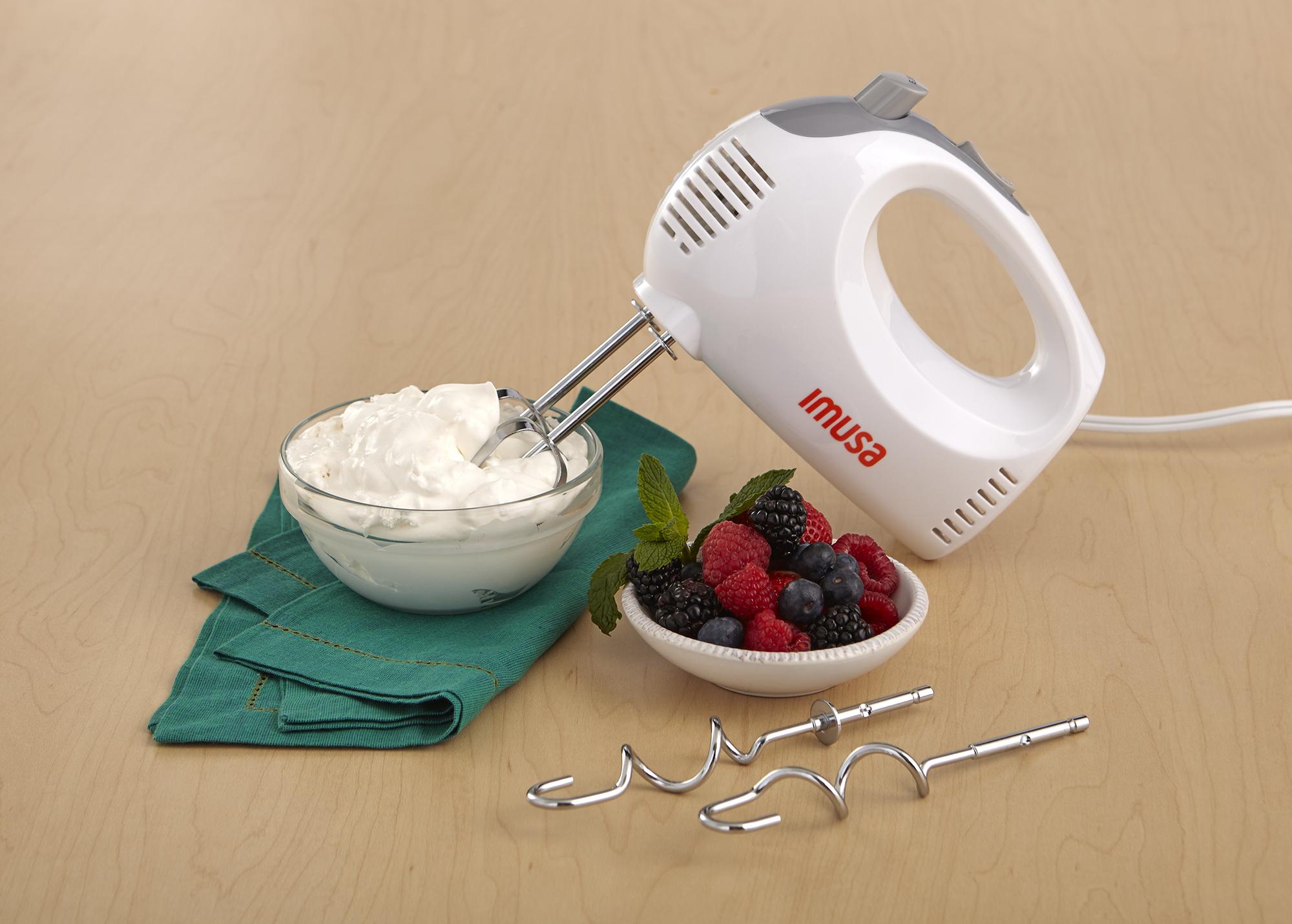 IMUSA Electric Hand Mixer 5 Speed 150 Watts, White