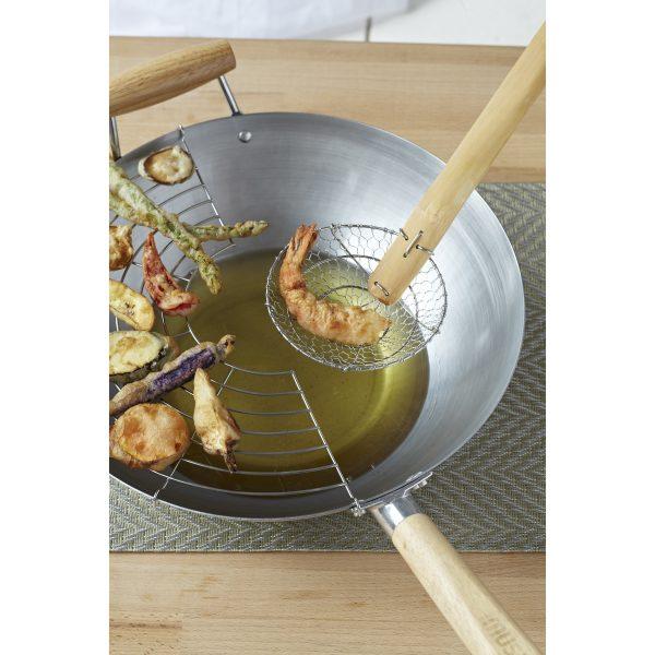 Global Kitchen Bamboo Skimmer, Tan