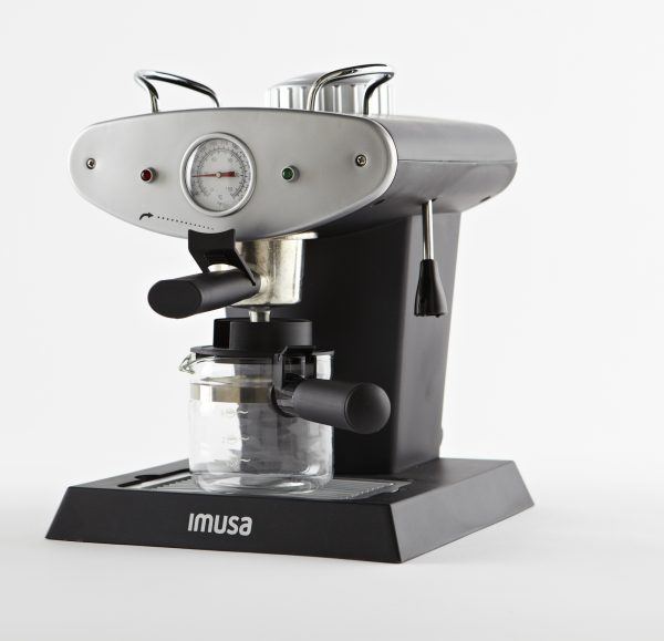 IMUSA Electric Gourmet Espresso/Cappuccino Maker 4 Cup 800 Watts, Grey