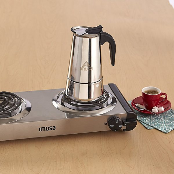 IMUSA Stainless Steel Coffeemaker 4 Cup, Silver