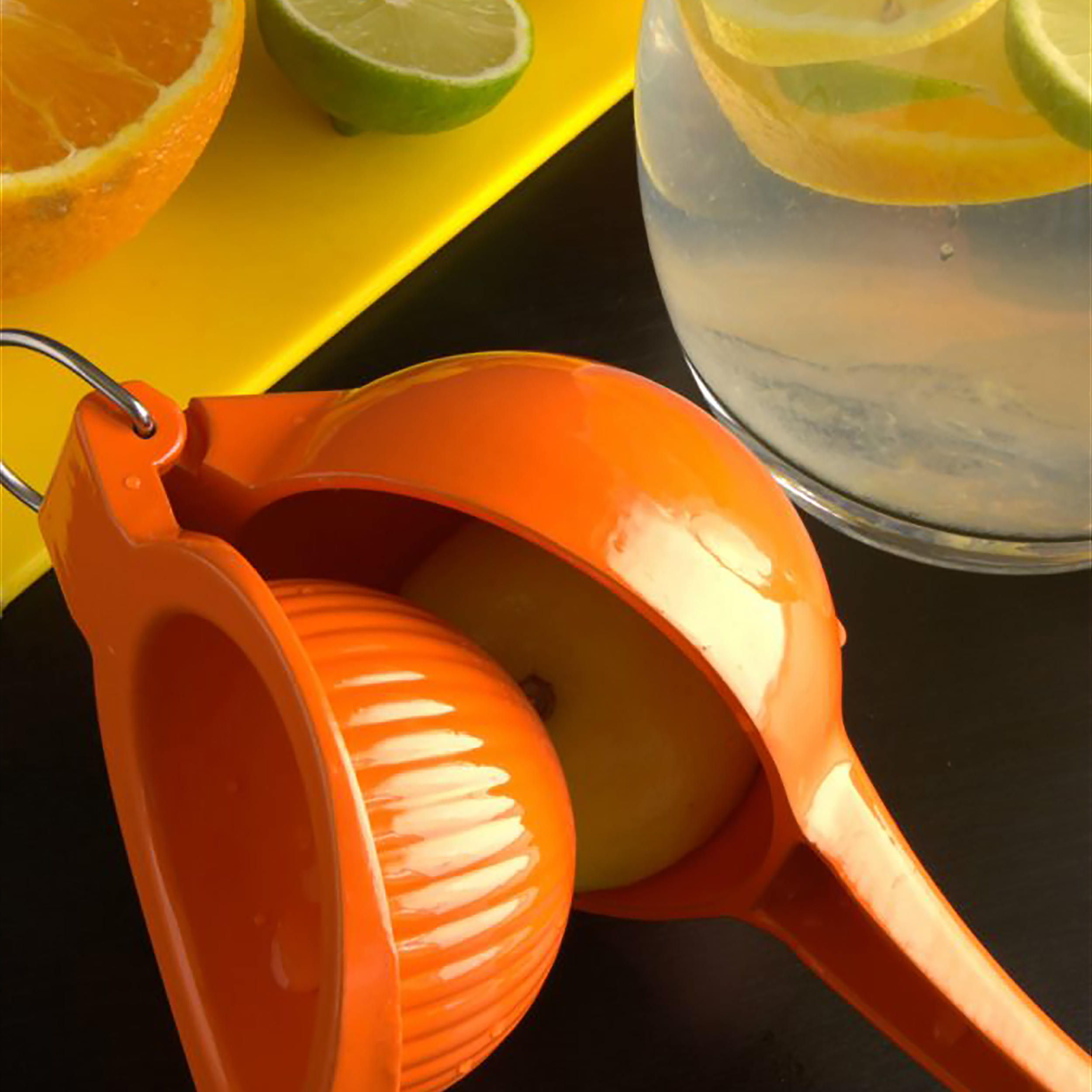 IMUSA Cast Aluminum Orange Squeezer, Orange