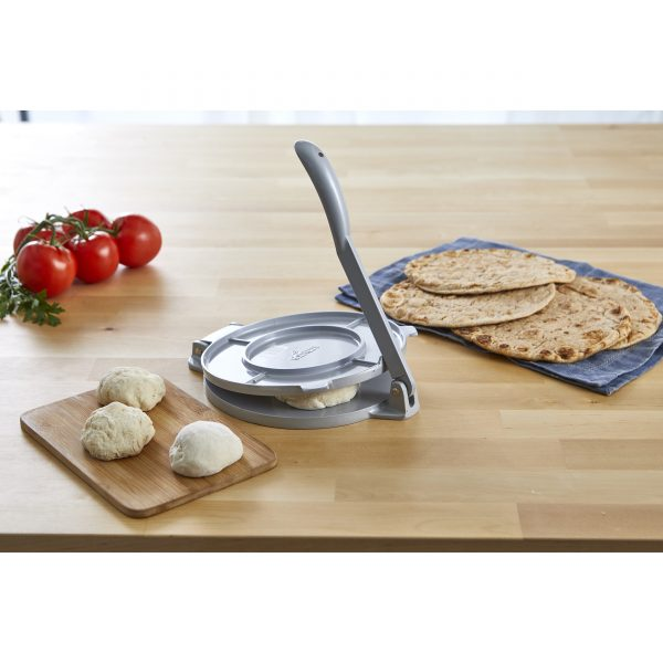 IMUSA Cast Aluminum Tortilla Press 8 Inches, Grey