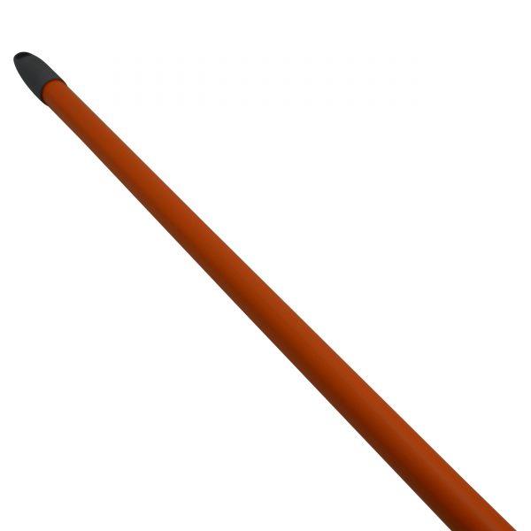 IMUSA Triangle Indoor/Outdoor Broom with Metal Handle, Orange/Grey