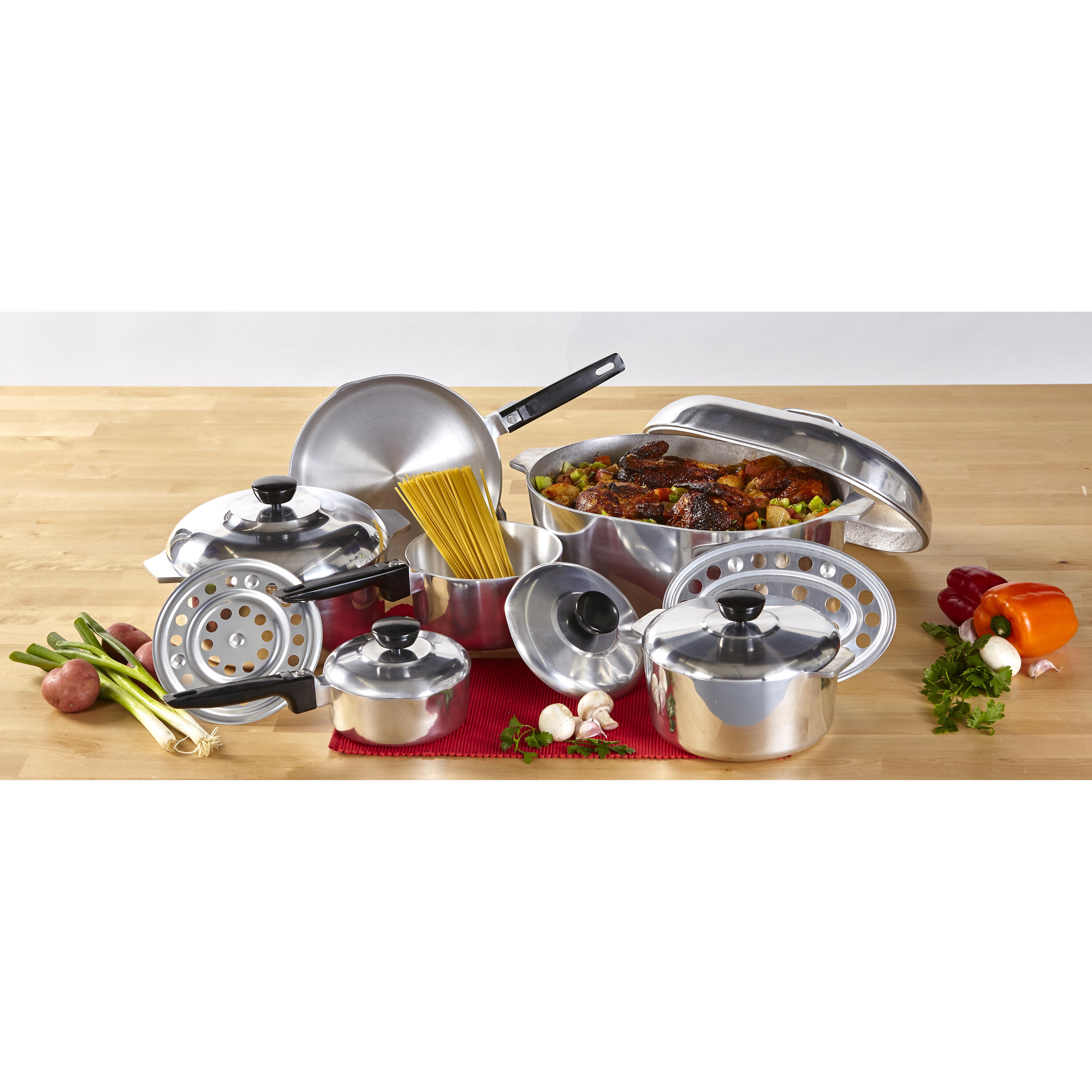 IMUSA 13-Piece Cast Aluminum Cajun Cookware Set