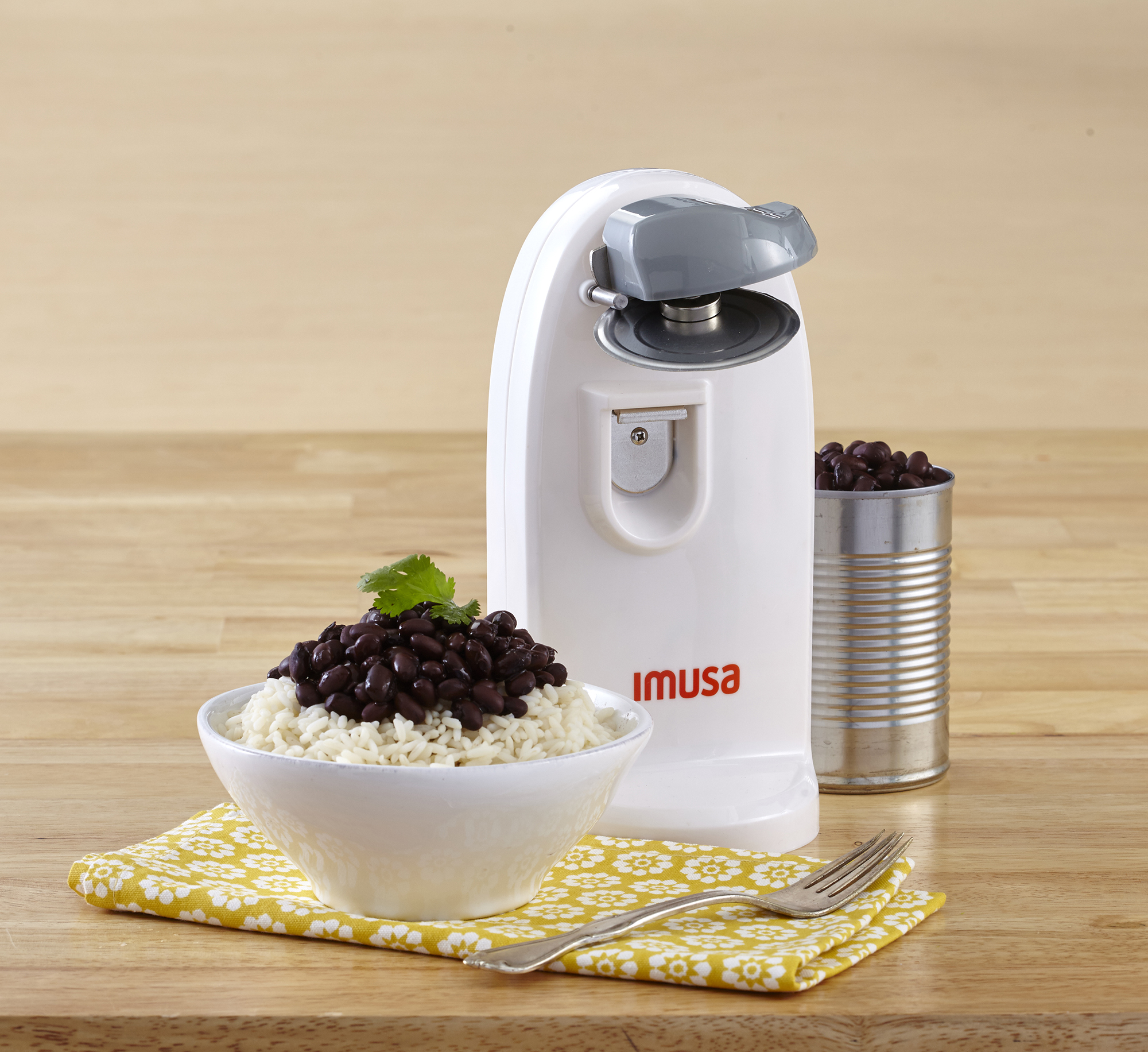 IMUSA Electric 3-in-1 Electric Can Opener 70 Watts, White