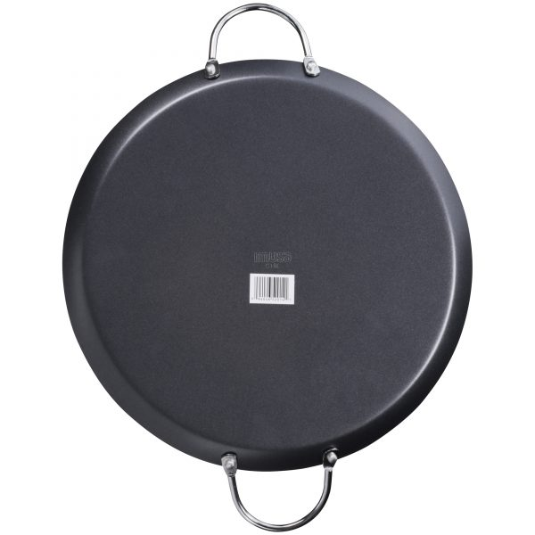 IMUSA Nonstick Round Comal with Metal Handles 11 Inch, Black