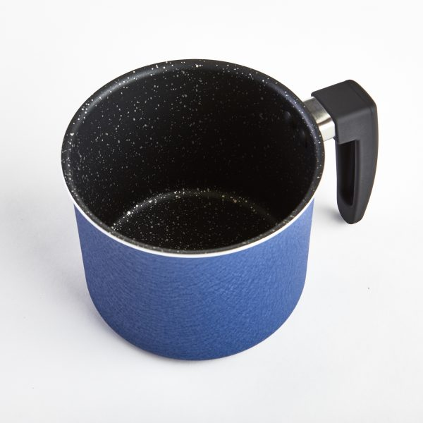 IMUSA Stone Mug with Speckled Nonstick with Black Soft Touch Handle Blue