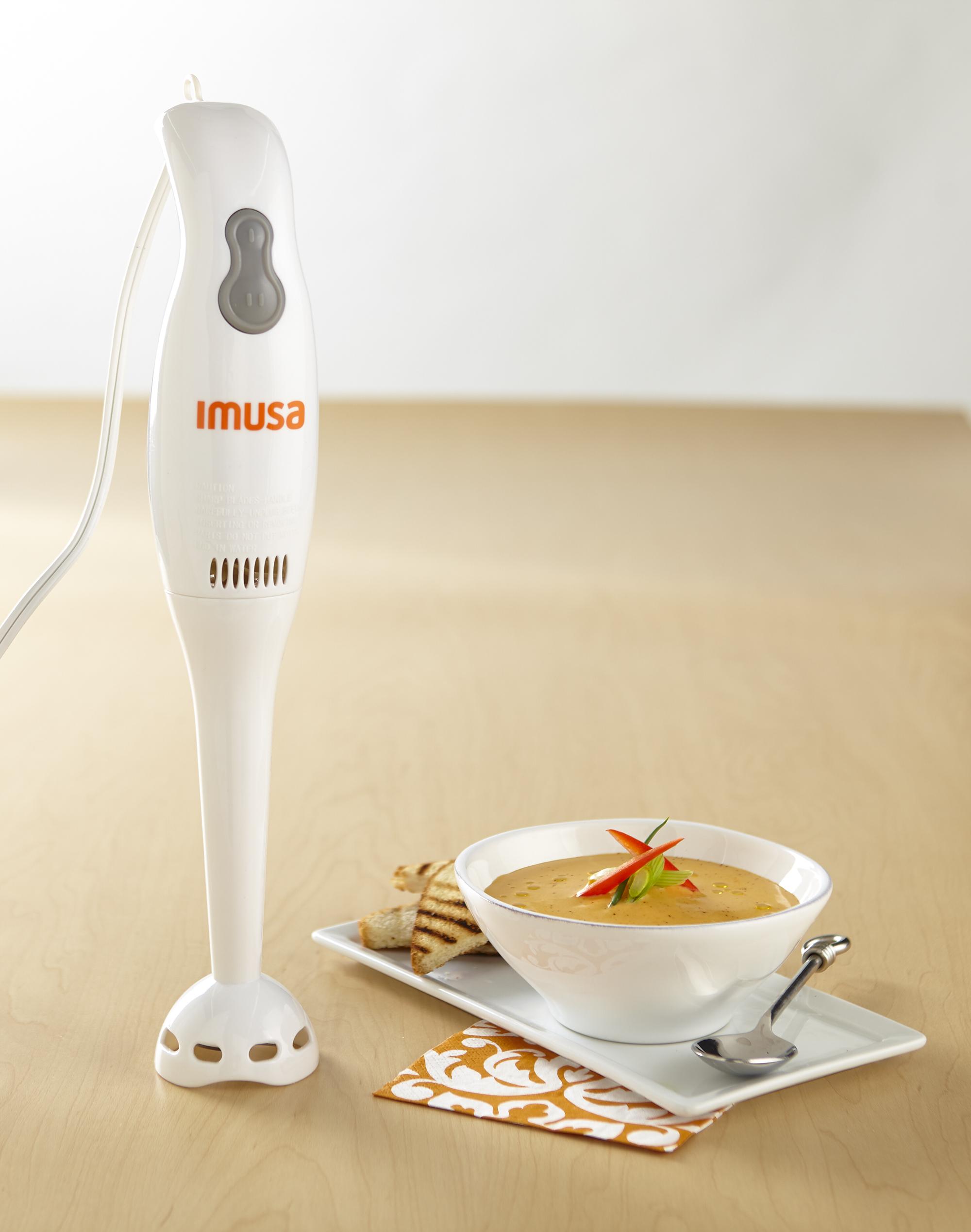 IMUSA Electric Hand Blender 2 Speed 200 Watts, White