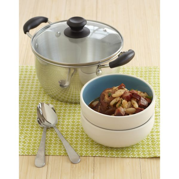 IMUSA Pot with Glass Lid and Bakelite Handle 6 Quart