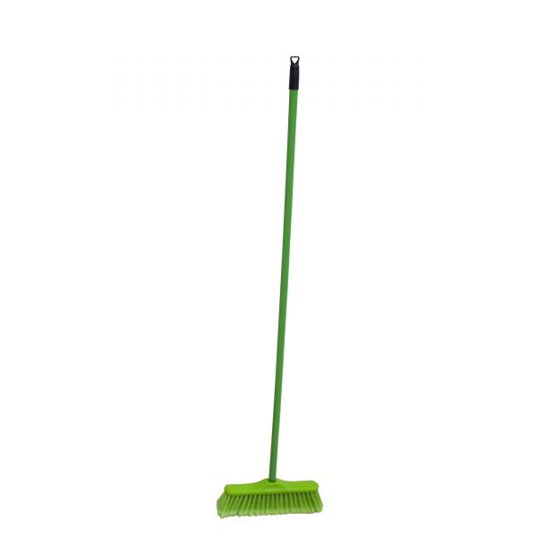 IMUSA Continental Broom with Metal Handle, Green