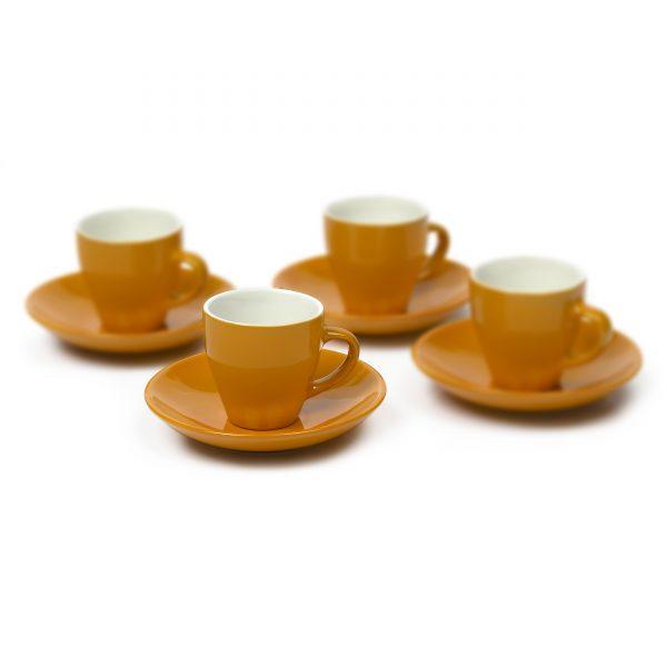 IMUSA 8 Piece Espresso Set with Rack Orange
