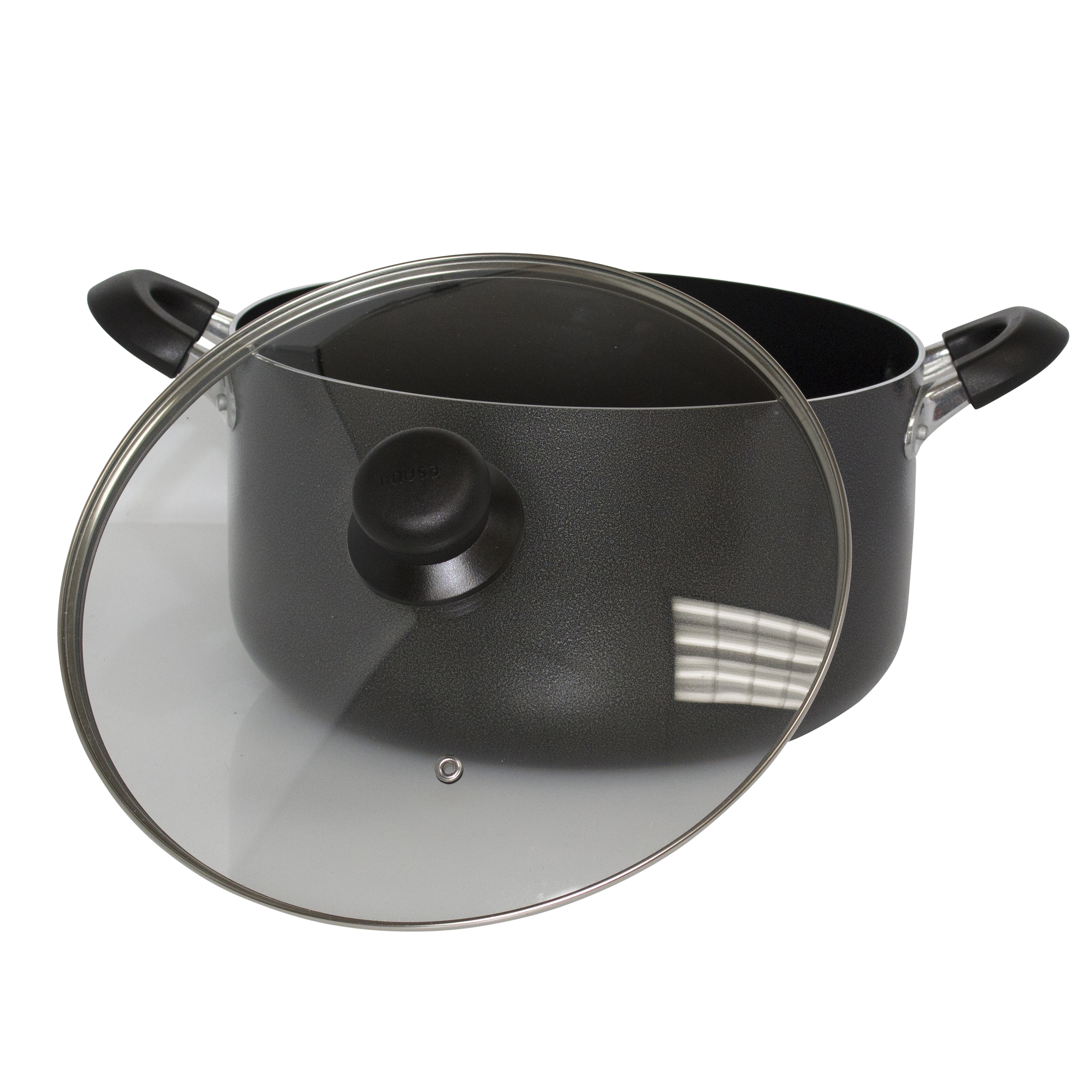IMUSA Nonstick Hammered Dutch Oven with Glass Lid 10 Quart