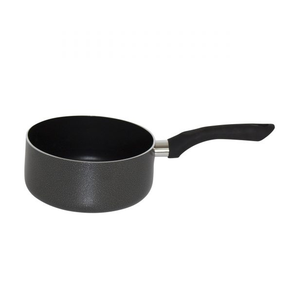 IMUSA Nonstick Sauce Pan with Soft Touch Handle 2 Quart , Charcoal