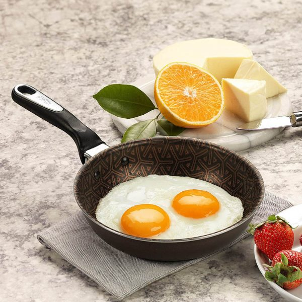 """IMUSA Talent Master 6.5"""" Egg Pan with Glass Lid"""
