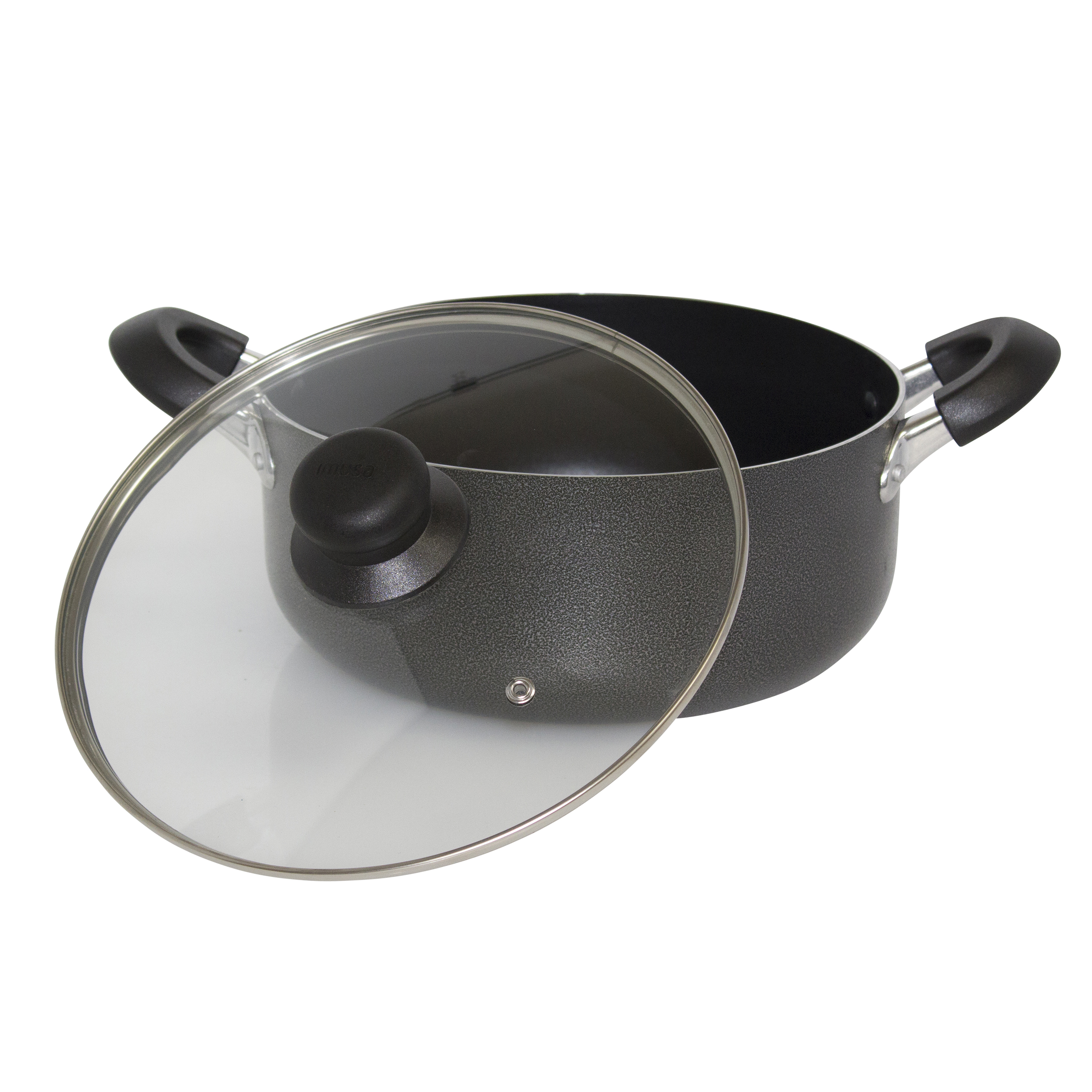 IMUSA Nonstick Hammered Dutch Oven with Glass Lid 4.8 Quart