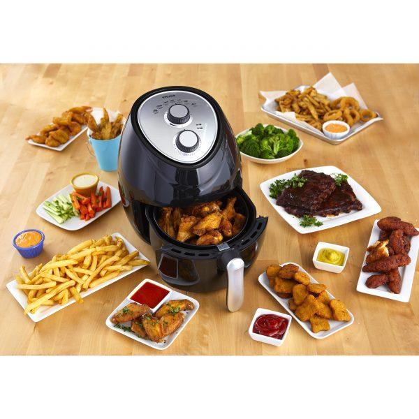IMUSA Electric Air Fryer 4 Quarts, Black