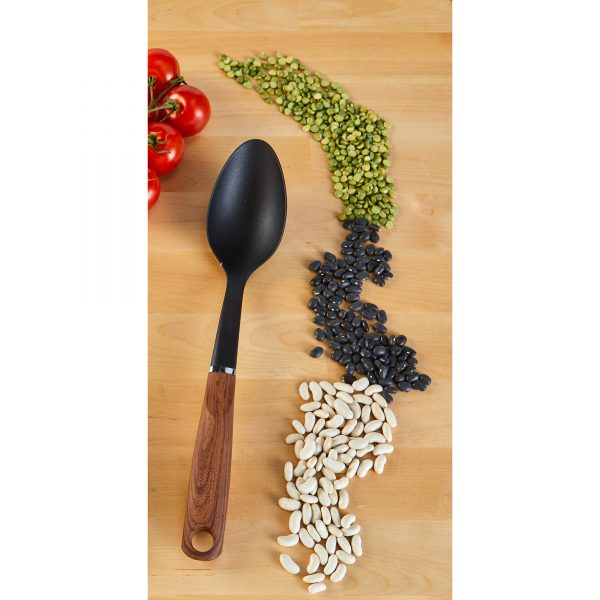 IMUSA Solid Spoon with Woodlook Handle
