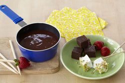 Spicy Mexican Hot Chocolate Fondue