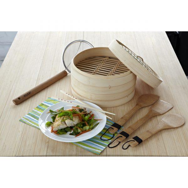IMUSA Bamboo 3 Piece Kitchenware Set, Tan