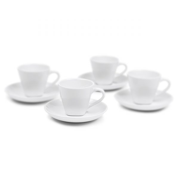 IMUSA 8 Piece Espresso Set with Rack White