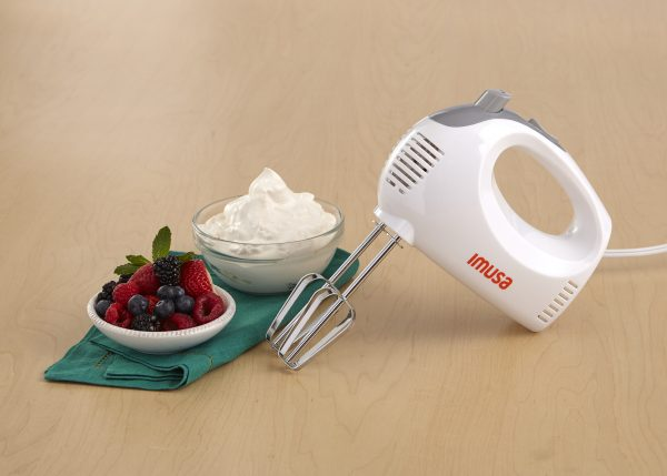 IMUSA Electric Hand Mixer 5 Speed 150 Watts, White