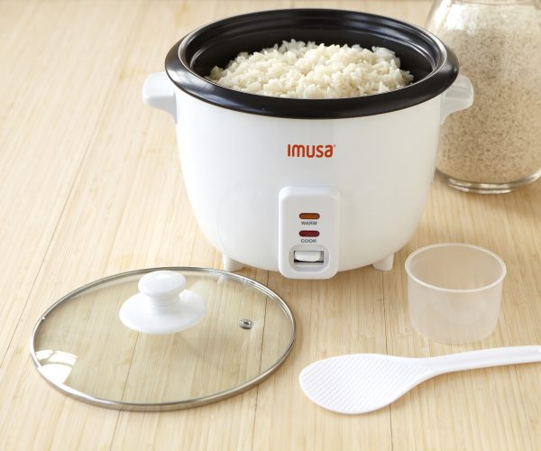 IMUSA Electric Nonstick Rice Cooker 5 Cup 400 Watts, Black