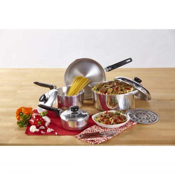 IMUSA 8-Piece Cast Aluminum Cajun Cookware Set