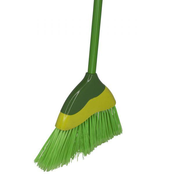 IMUSA Angled Broom with Metal Handle, Green
