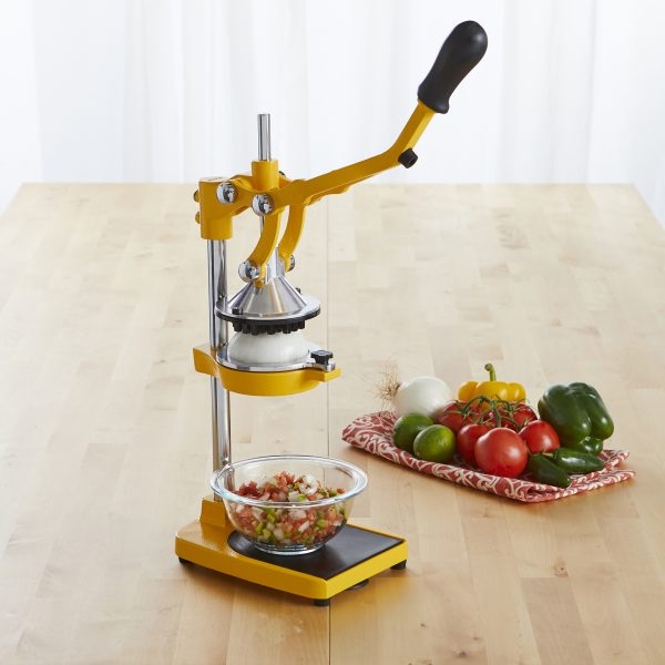 IMUSA Heavy Duty Citrus Juicer with Multi Function Adapters Yellow