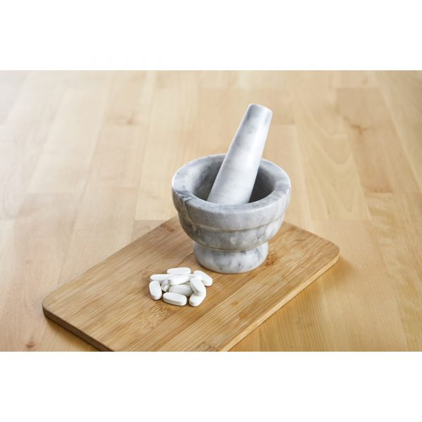 IMUSA Marble Mortar and Pestle 3.75 Inches, White