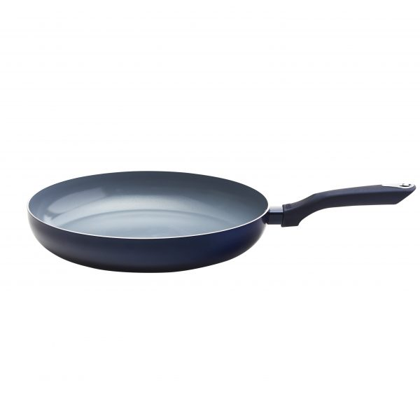 IMUSA Blue Diamond Ceramic Fry Pan with Soft touch Handle, 12 inch