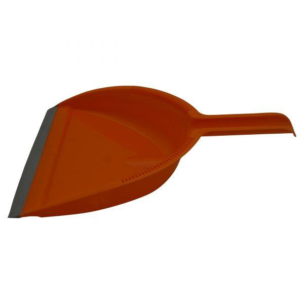IMUSA Dust Pan Set with Sweeping Brush, Orange
