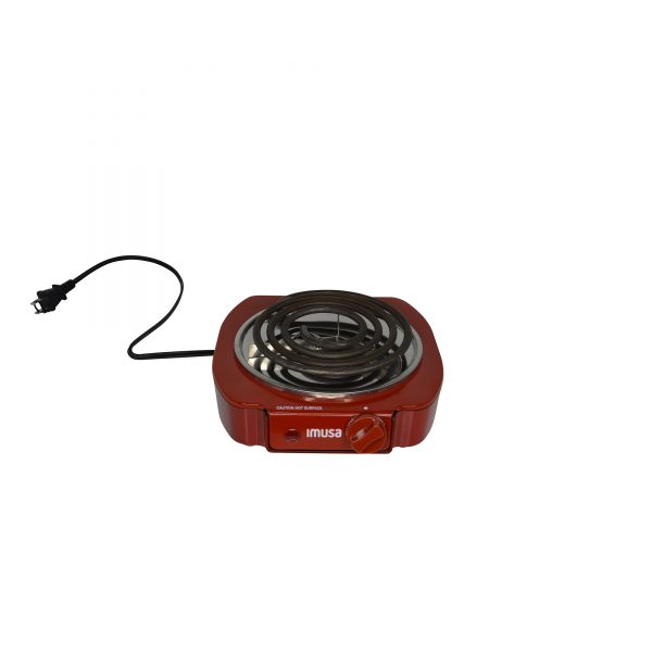 IMUSA Electric Single Burner 1100 Watts, Red