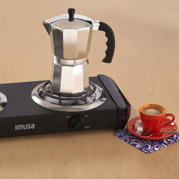 IMUSA Aluminum Coffeemake 3 Cup, Silver
