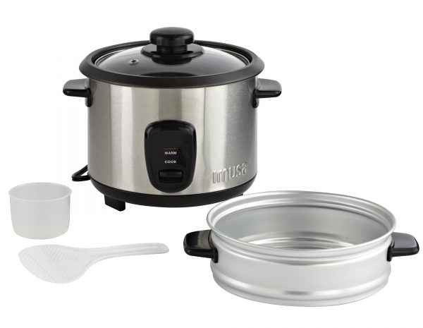 IMUSA Electric Stainless Steel Nonstick Rice Cooker 10 Cup 700 Watts