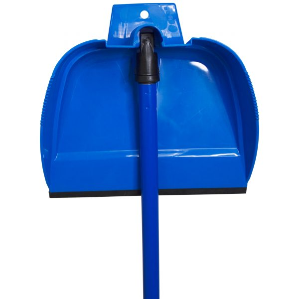 IMUSA Retractable Dustpan with Metal Handle, Blue