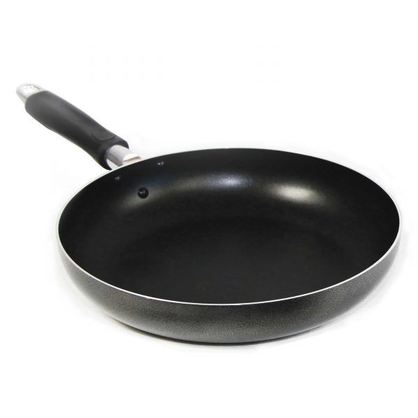 IMUSA Nonstick Hammered Finish Saute Pan 10 Inch, Black