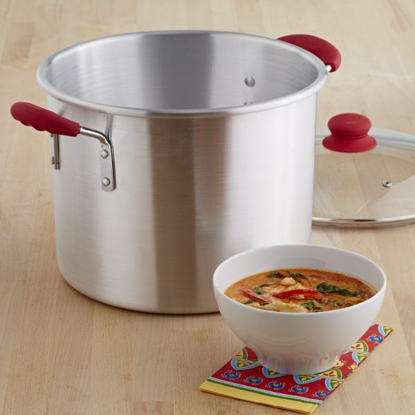 IMUSA Stock Pot with Glass Lid and Soft Touch Handle 12 Quart