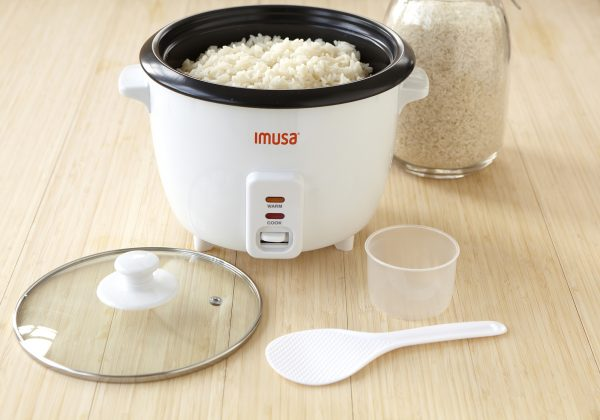 IMUSA Electric Nonstick Rice Cooker 8 Cup 500 Watts, Black