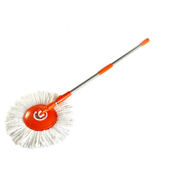 IMUSA Microfiber Spin Mop with Bucket, Orange