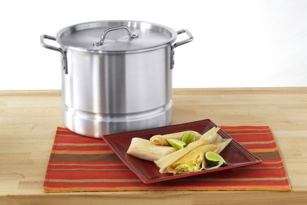 IMUSA Aluminum Steamer with Lid 32 Quart, Silver