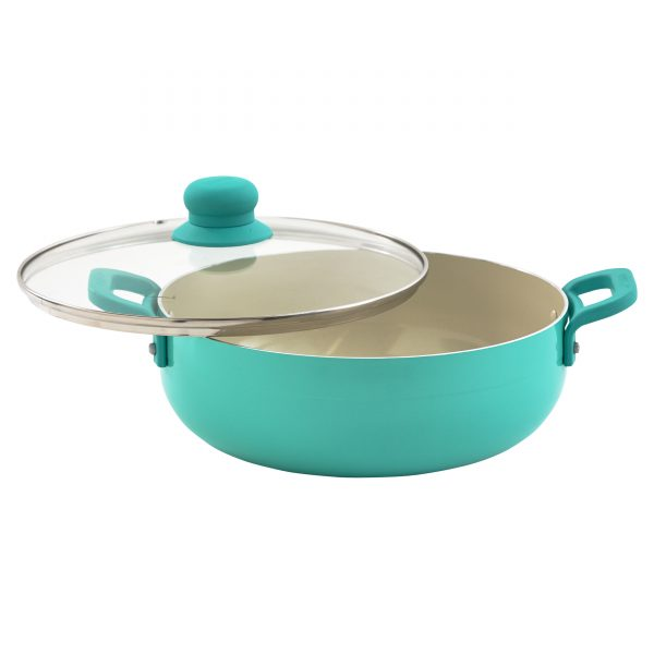 IMUSA Teal Caldero with Glass Lid 3.2 Quarts, Teal