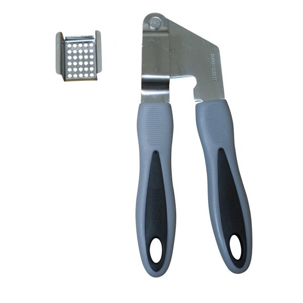 IMUSA Stainless Steel Garlic Press with Grey Handle