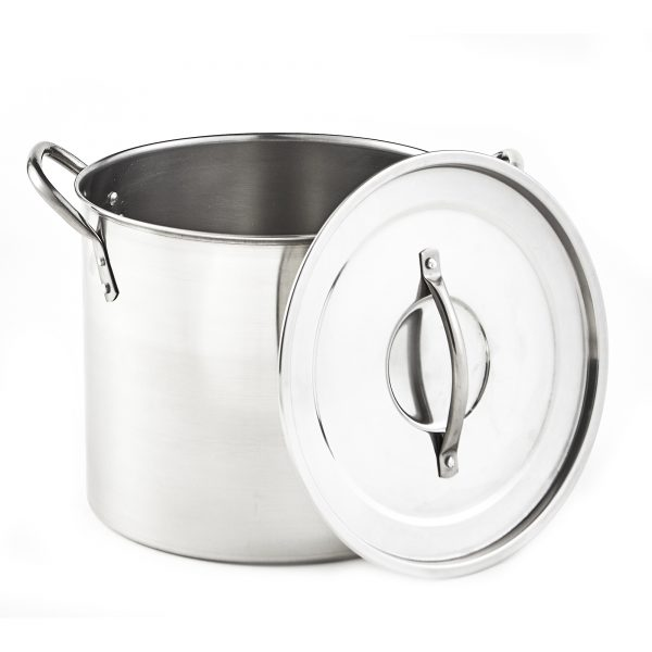 IMUSA 2 Piece Stainless Steel Stock Pot 20 Quart